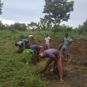 Construction Des Buttes Par Les Villageois