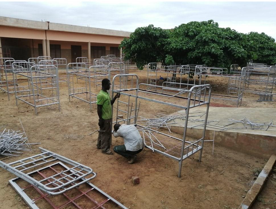 Lits Internat Benin Fondation Heloise Charruau Alfa Kpara